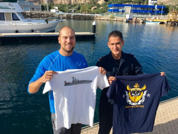 I got to trade shirts with Francisco, a Mexican Navy sailor