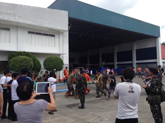 yolanda arrival at villamor airbase