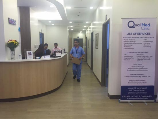 qualimed clinic in ayala UP Town center 1
