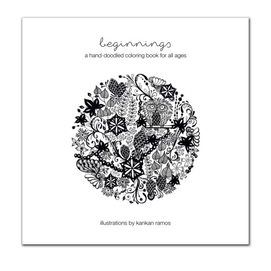 19 pages that you can color, tear the pages off and frame them as you please.