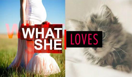 what she loves