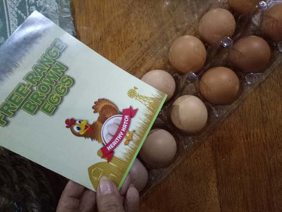 free range brown eggs by healthy hatch