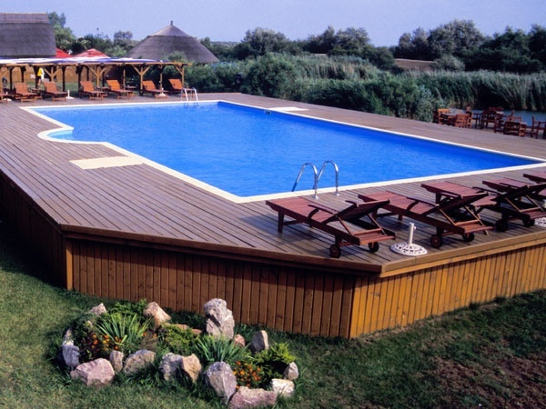 Above ground pool deck plans best above ground pools for Rectangular above ground swimming pools with deck