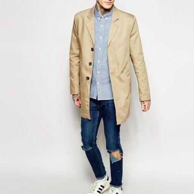 Only & Sons Beige Overcoat