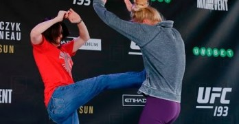 Holly Holm in UFC open workouts