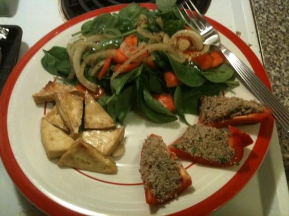 spinach_salad_tofu_pate