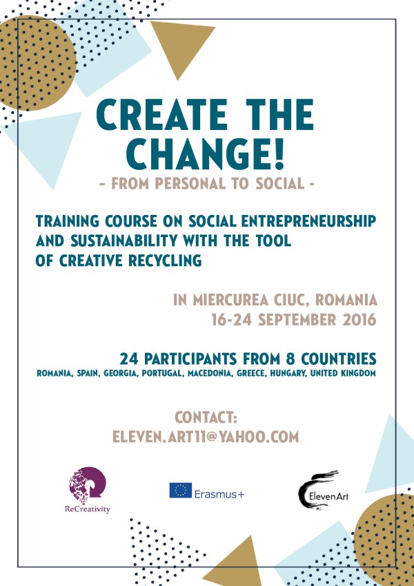 Create The Change - training course - Romania - abroadship.org