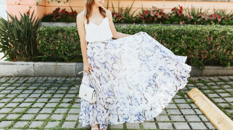 Floral Maxi Skirt & My Chemical Peel Experience