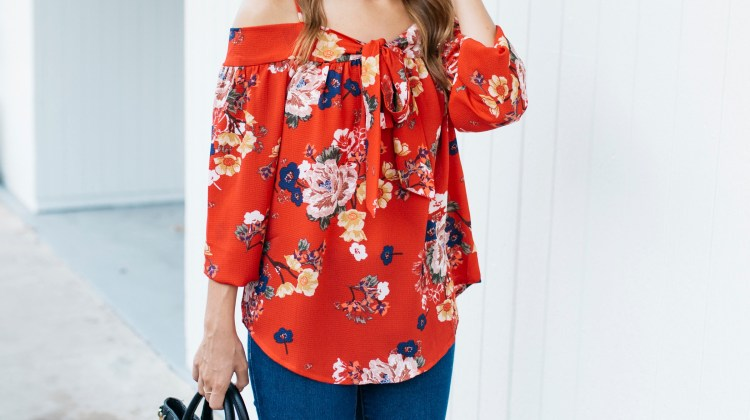 Transitioning to Fall: Open Shoulder Top