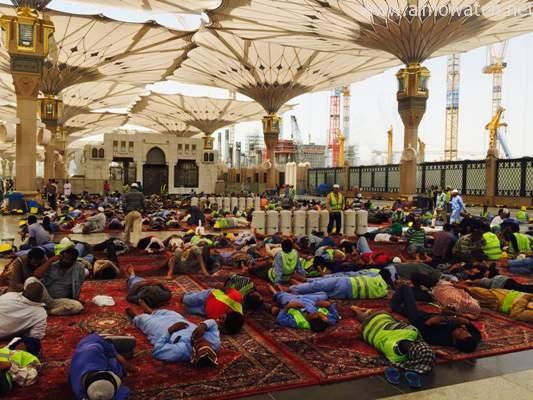 صور: توسعة ساحات المسجد النبوي في المدينة المنورة