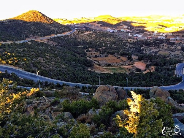 جمال الطبيعة في جبل مرير بالنماص