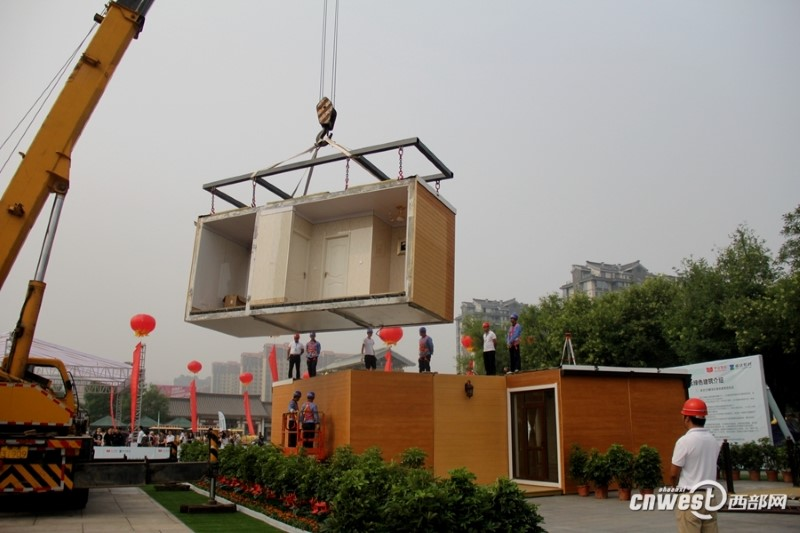 بناء منزل ثلاثي الأبعاد في الصين