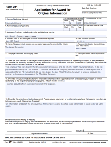 IRS Form 211 (filled in)