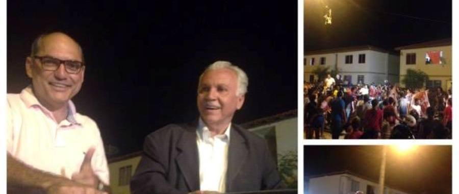Joseph e Wank são recebidos em clima de festa no Itaberaba, Residencial Juazeiro I, II e III
