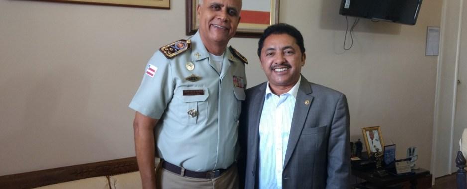 Deputado Roberto Carlos solicita Unidade Móvel da Polícia Militar para Juazeiro ao Comandante-geral da PM-BA