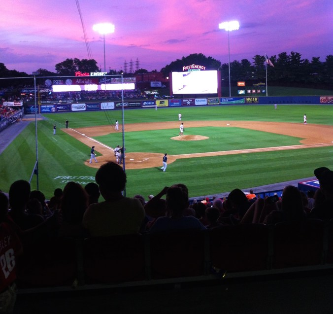 The view from the top of the grandstand at FirstEnergy Stadium, home of the Reading Fightin' Phils.  Photo by Ariane Cain.