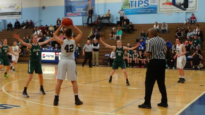 The Twin Valley Raiders played the Berks Catholic Saints in the quarterfinals of the BCIAA Tournament at Exeter Township Senior High School. (Photo: Ariane Cain/Full Sail University)