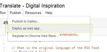 Deploy Web App