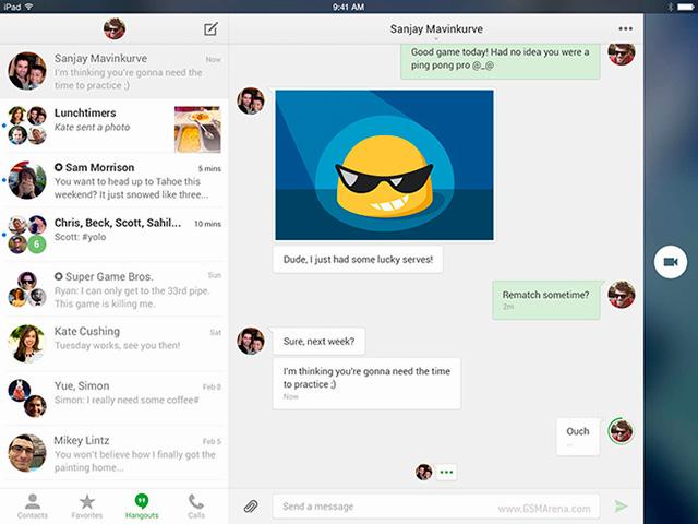 Hangouts 2.0 en el iPad