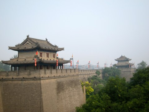 xian china city wall