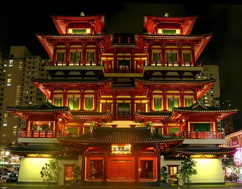 Buddha Tooth Relic Temple singapore night