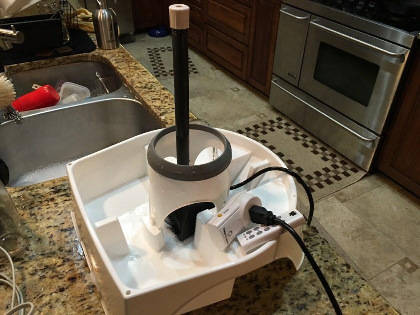 how to clean a keg pump