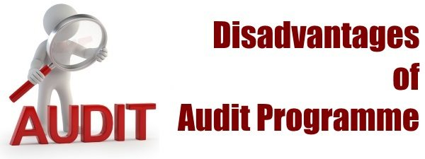 Disadvantages of Audit Programme