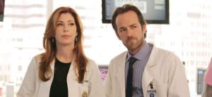 Dana Delany and Luke Perry in episode 'Going Viral'