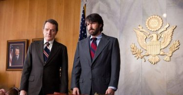 O'Donnell (Cranston) and Tony Mendez at CIA Headquarters