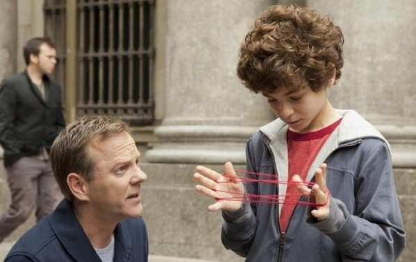 Kiefer Southerland as Martin and David Mazouz as Jake in Touch