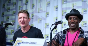 "COMIC-CON INTERNATIONAL: SAN DIEGO 2015 -- ""The Player"" Panel & Red Carpet -- Pictured: (l-r) Philip Winchester, Wesley Snipes, Thursday, July 9, 2015, from San Diego Convention Center, San Diego, Calif. -- (Photo by: Mark Davis/NBC)"