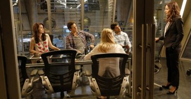 """STITCHERS - """"Future Tense"""" - Kirsten and the Stitchers team investigate the murder of a psychic in an all-new episode of """"Stitchers,"""" airing Tuesday, July 28, 2015 at 9:00PM ET/PT on ABC Family. (ABC Family/Tony Rivetti) ALLISON SCAGLIOTTI, KYLE HARRIS, RITESH RAJAN, SALLI RICHARDSON-WHITFIELD"""