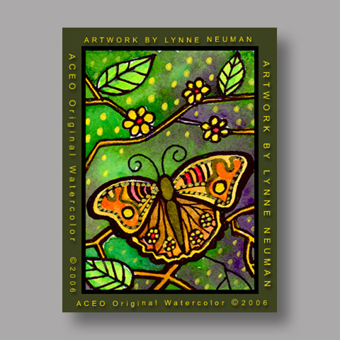 Signed ACEO *Butterfly #348* by Lynne Neuman