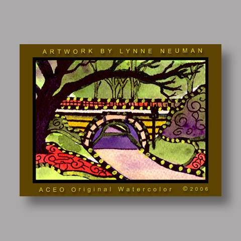 Signed ACEO *Central Park New York #550* by Lynne Neuman