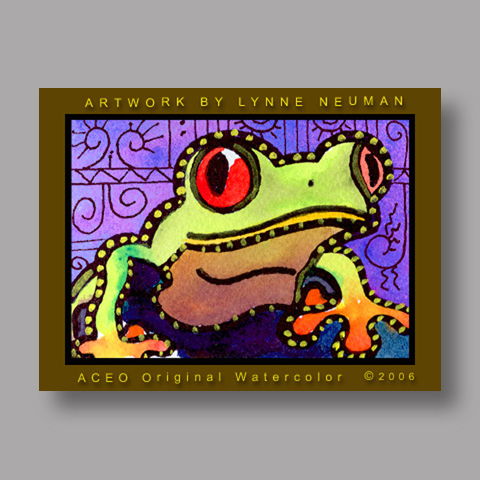 Signed ACEO *Frog #551* by Lynne Neuman