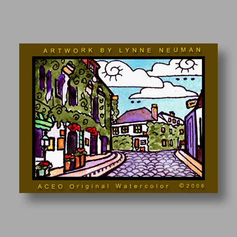 Signed ACEO *Loire Valley France #586* by Lynne Neuman