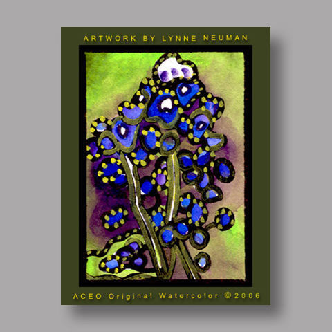 Signed ACEO *Texas Bluebonnet #673* by Lynne Neuman