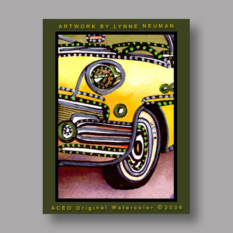 Signed ACEO *Classic Automobile #709* by Lynne Neuman