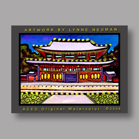 Signed ACEO *Gyeongbok Palace Seoul South Korea #1138* by Lynne Neuman