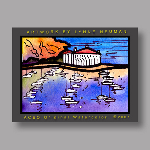 Signed ACEO *Catalina California #1337* by Lynne Neuman