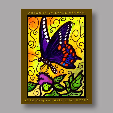 Signed ACEO *Butterfly #1442* by Lynne Neuman