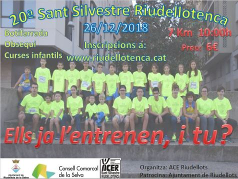 SANT SILVESTRE RIUDELLOTENCA 2018