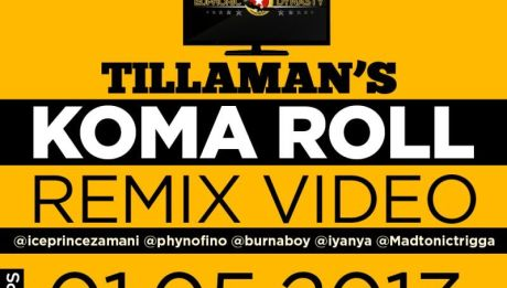 Tillaman ft. Burna Boy, Trigga Madtonic, Iyanya, Phyno &amp; Ice Prince  KOMA ROLL Remix [Official Video] Artwork | AceWorldTeam.com
