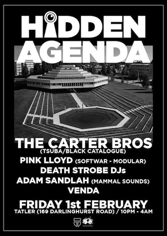 acid stag presents HIDDEN AGENDA ft. THE CARTER BROS Tsuba-Black Catalogue