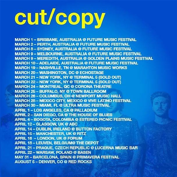 Cut Copy_Tour