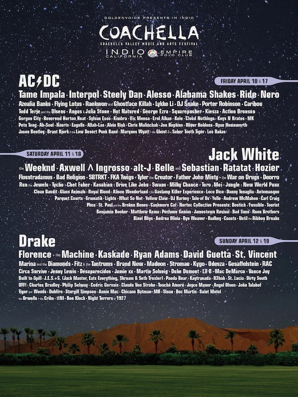 Coachella 2015 Lineup Announced - poster - acid stag