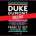 We Review Duke Dumont at Bottom End - July 22, 2016 - acid stag