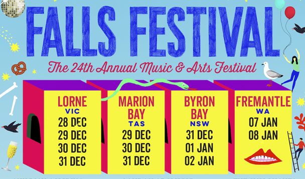 Falls Festival 2016-2017 Line-up Announcement - acid stag