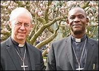 Archbishop Josiah Idowu-Fearon (right) with Archbishop Justin Welby. Archbishop of Canterbury's website.