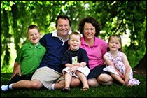 Chris Brennan and family